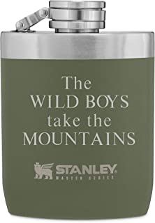 Personalized Stanley 8 OZ Hammertone Green Master Flask with Engraving Included