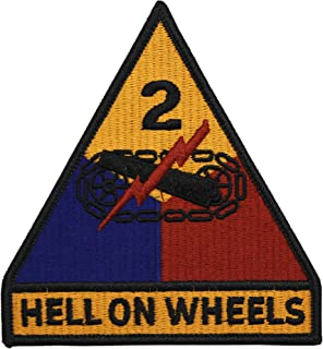 2nd Armored Division Patch with Hell On Wheels Full Color