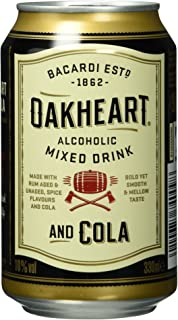 Bacardi Oakheart und Cola EINWEG, 1 x 0,33 l