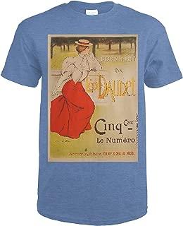 Leon Daudet - Suzanne Vintage Poster (artist: Lucas) France c. 1897 60404 (Heather Royal T-Shirt X-Large)