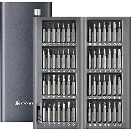 EZARC Set di Cacciaviti Magnetici di Precisione, 57 in 1 Kit Cacciaviti di Riparazione con Custodia in Alluminio per Occhiali, Smartphone, Cellulare, PC, Laptop, Elettronica