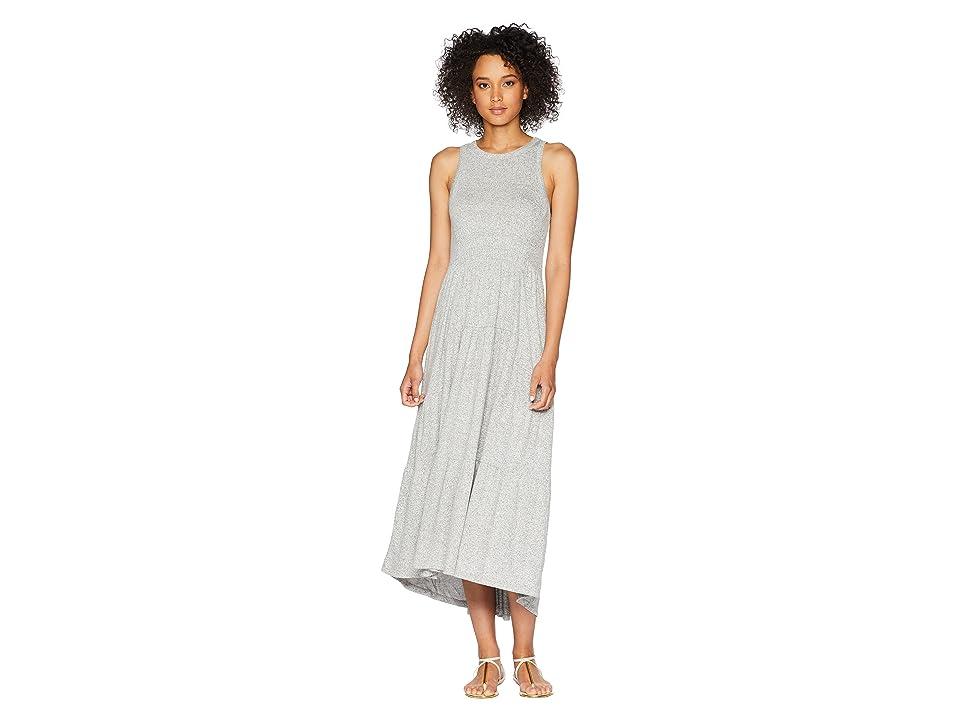 Lucky Brand Open Back Smocked Dress (Heather Grey) Women