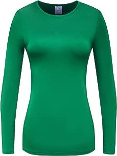 Women's Long Sleeve T-Shirt Comfy Underscrub Tee Basic Stretch Layer