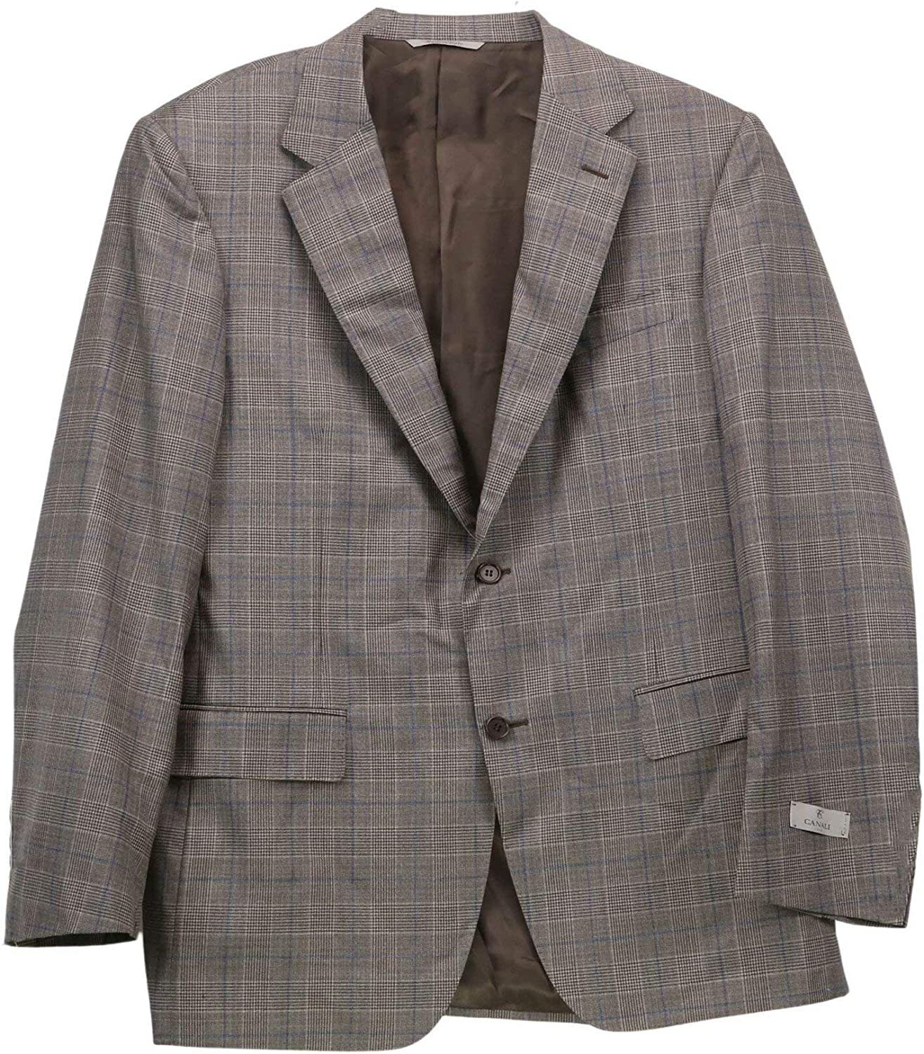 Canali Men's Wool Checked Suit Dress