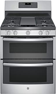 GE JGB860SEJSS 6.8 cu. ft. Freestanding Gas Double Oven Convection Range Stainless Steel- Refurbished