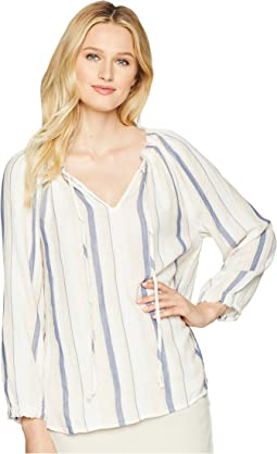 Claire Stripe Long Sleeve Blouse