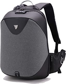 Classic Business Laptop Bag, Waterproof Anti theft Work Backpack with USB Charging Port for Men and Women (Grey)