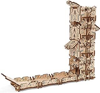 Ugears Modular Dice Tower, Wood Laser Cut, DIY, Self Assembling Set, Easy Roller Perfect Board Game