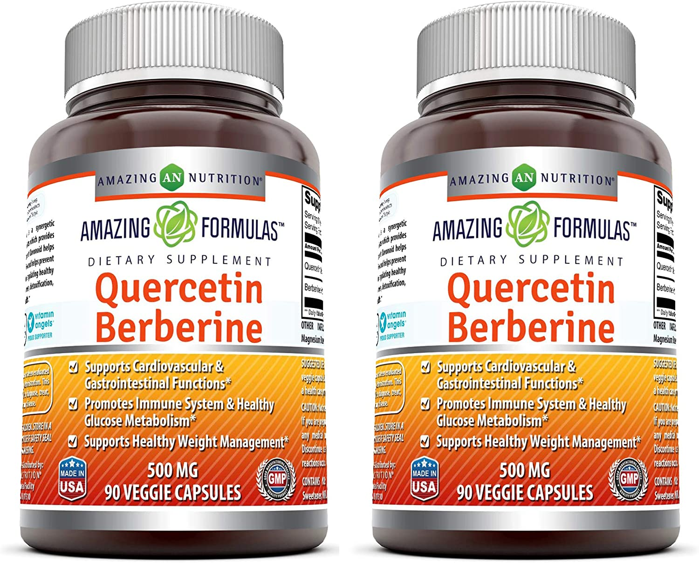 Amazing Formulas Quercetin Berberine 250mg and Max 90% OFF - Genuine