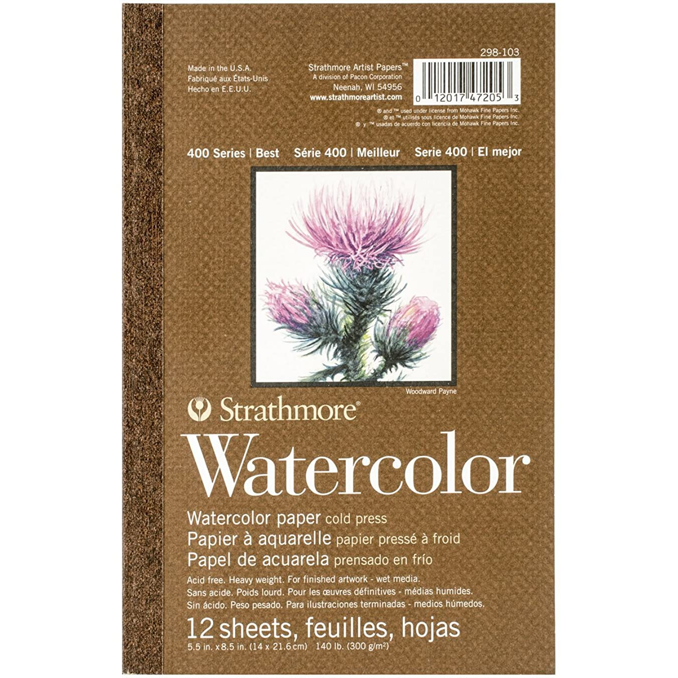 Strathmore 298-103 400 Series Watercolor Pad, 5.5