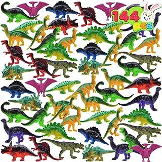 "JOYIN 144 Pcs 2.5"" Mini Dinosaur Toy Set Figure for Kids Party Packs, Party Favors, Cake Toppers, Stocking Stuffers, Easte..."