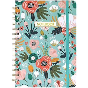 "Ruled Notebook/Journal - Lined Journal with Premium Thick Paper, 8.4"" X 6.25"", College Ruled Spiral Journal/Notebook, Banded with Exquisite Inner Pocket, Hardcover"