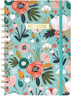 "Ruled Notebook/Journal - Lined Journal with Premium Thick Paper, 8.4"" X 6.25"", College Ruled Spiral Notebook/Journal, Banded with Exquisite Inner Pocket, Hardcover"