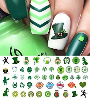 St. Patricks Day Luck of The Irish Set #2 Water Slide Nail Art Decals - Salon Quality!