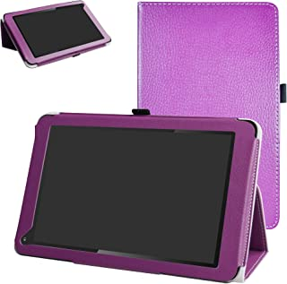 Dragon Touch V10 Case,Mama Mouth PU Leather Folio 2-Folding Stand Cover for Dragon Touch V10 10 inch GPS Android Tablet,Purple