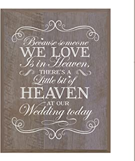 LifeSong Milestones Memorial Gift for Loss of Loved one, Mother, Father, Wife, Husband, Son, Daughter Sympathy Gift Ideas Wall Plaque Bit of Heaven Size 12 x 15 (Barnwood)