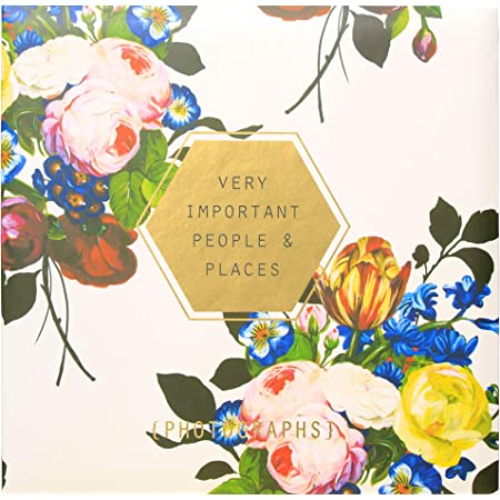 """C.R. Gibson Floral 'Very Important People & Places' Magnetic Photo Album, 16 Pages, 13.5"""" W x 13"""" L"""