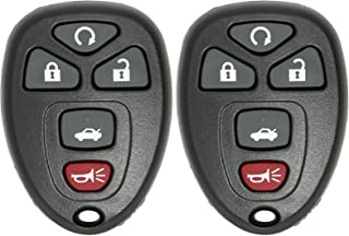 Keyless2Go 2 New Replacement Keyless Entry Remote Start Car Key Fob for 22733524 KOBGT04A Malibu Cobalt G5 G6 Grand Prix Lacrosse Allure