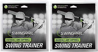 SWINGRAIL Baseball & Softball Swing Training Aid (2-Pack)