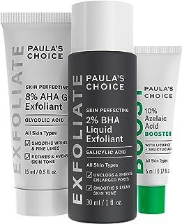 Paula's Choice 2% BHA Liquid & 8% AHA Gel Facial Exfoliants with Salicylic & Glycolic Acid, 10% Azelaic Acid for Large Por...