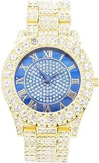 Bling'ed Out Luxury Designer Influenced Iconic Timepiece - Sparkling Round Brilliant Ice,Big Rocks Bezel - ST10327SD