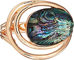 Robert Lee Morris Abalone and Gold Hinge Bangle