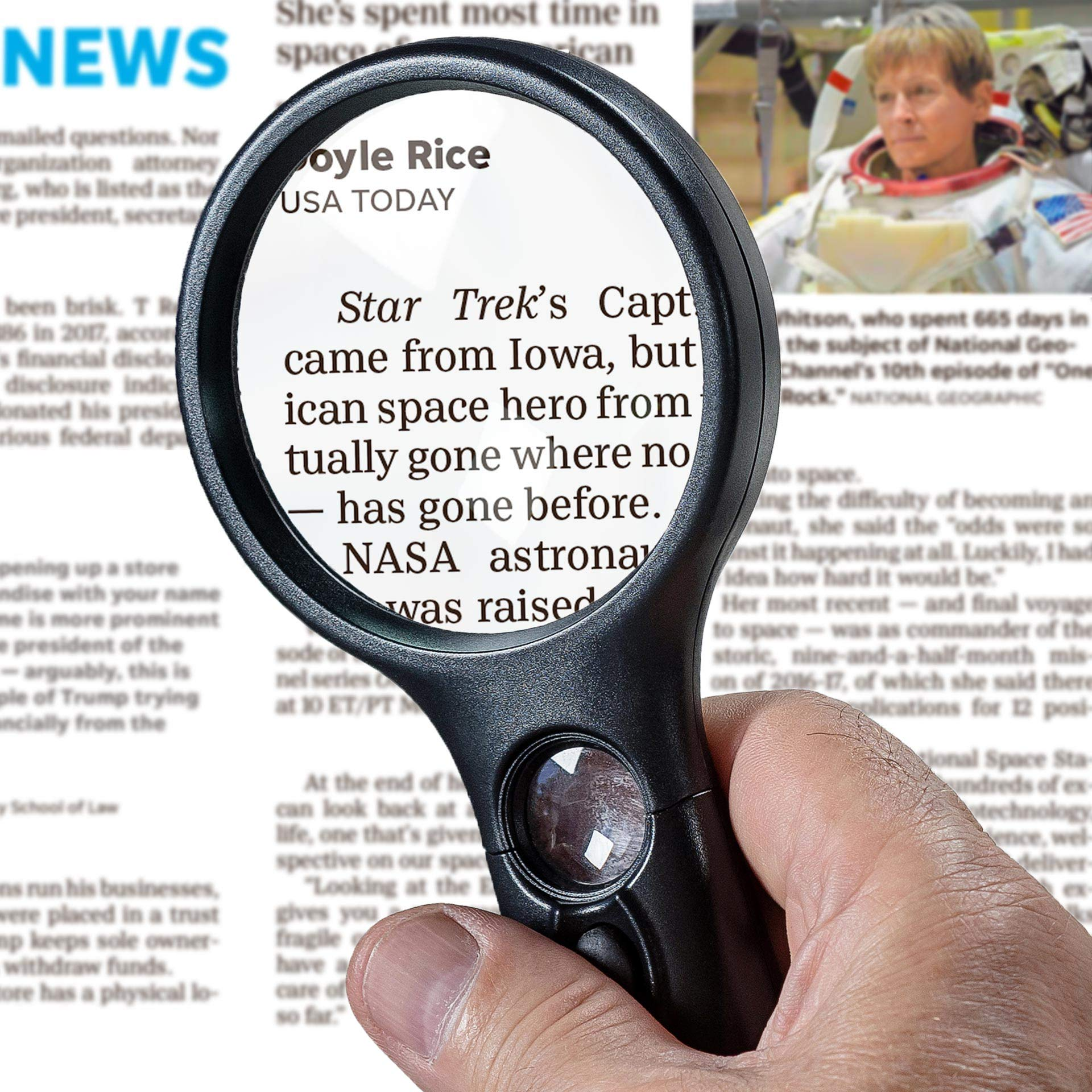 SeeZoom Lighted Magnifying Glass magnifier