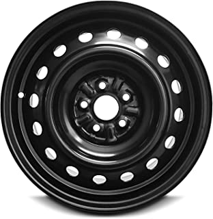 Road Ready Car Wheel For 2008-2014 Scion XD 16 Inch 5 Lug Black Steel Rim Fits R16 Tire - Exact OEM Replacement - Full-Size Spare