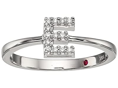 Roberto Coin Tiny Treasure Initial E Love Letter Ring (White Gold) Ring
