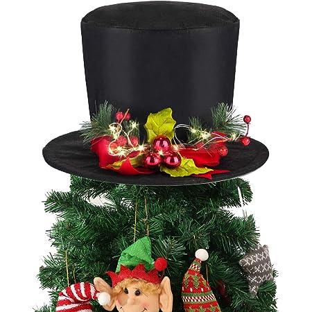 Christmas Reindeer Mini Top Hat Tea Party Hat Tree topper Christmas Mini Top hat Blue Snowflake Christmas hat, Frozen Blue Tree Topper