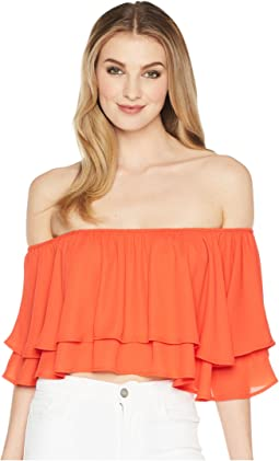 Show Me Your Mumu Hayworth Ruffle Top