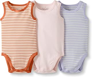 Moon and Back by Hanna Andersson Baby Boys` and Girls` 3-Pack Organic Cotton Sleeveless Bodysuit