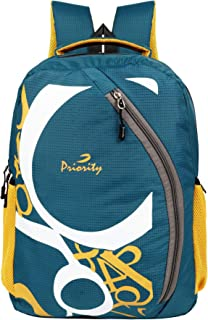 Priority Cherry 0019 32 litres Blue Polyester College Bag   Casual Backpack for Boys & Girls (25599)
