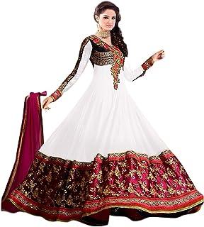 33a42aef96 VKARAN Women's Georgette Salwar Suit Dupatta Material (Free Size,Semi  Stitched)
