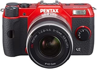 Pentax Q10 Mirrorless Digital Camera with 3-Inch LCD zoom lens kit 12.4MP (RED) (OLD MODEL)