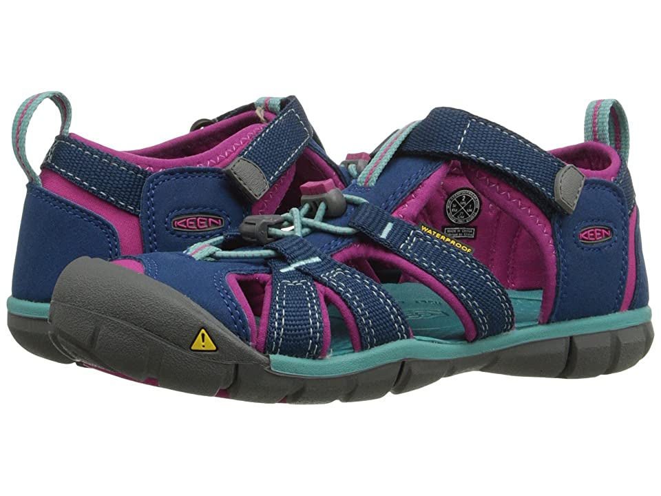 Keen Kids Seacamp II CNX (Little Kid/Big Kid) (Poseidon/Very Berry) Girls Shoes