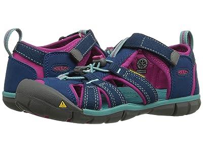 Keen Kids Seacamp II CNX (Little Kid/Big Kid) (Poseidon/Very Berry) Girls Shoes