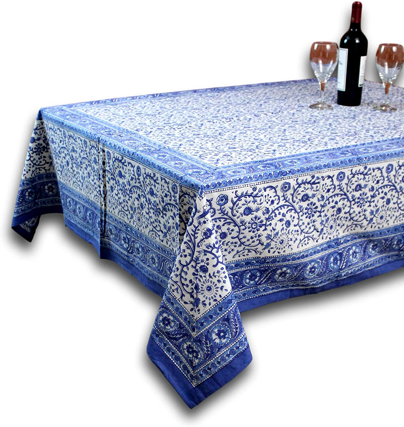 Homestead Rajasthan Block Print Tablecloth-60 x 90  Rectangle