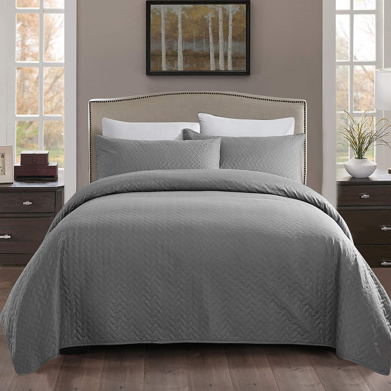 JML National uniform free shipping San Antonio Mall Bed Quilt 3 Piece King Size Reversible 92