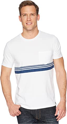 Chest Stripe Crew Neck Tee