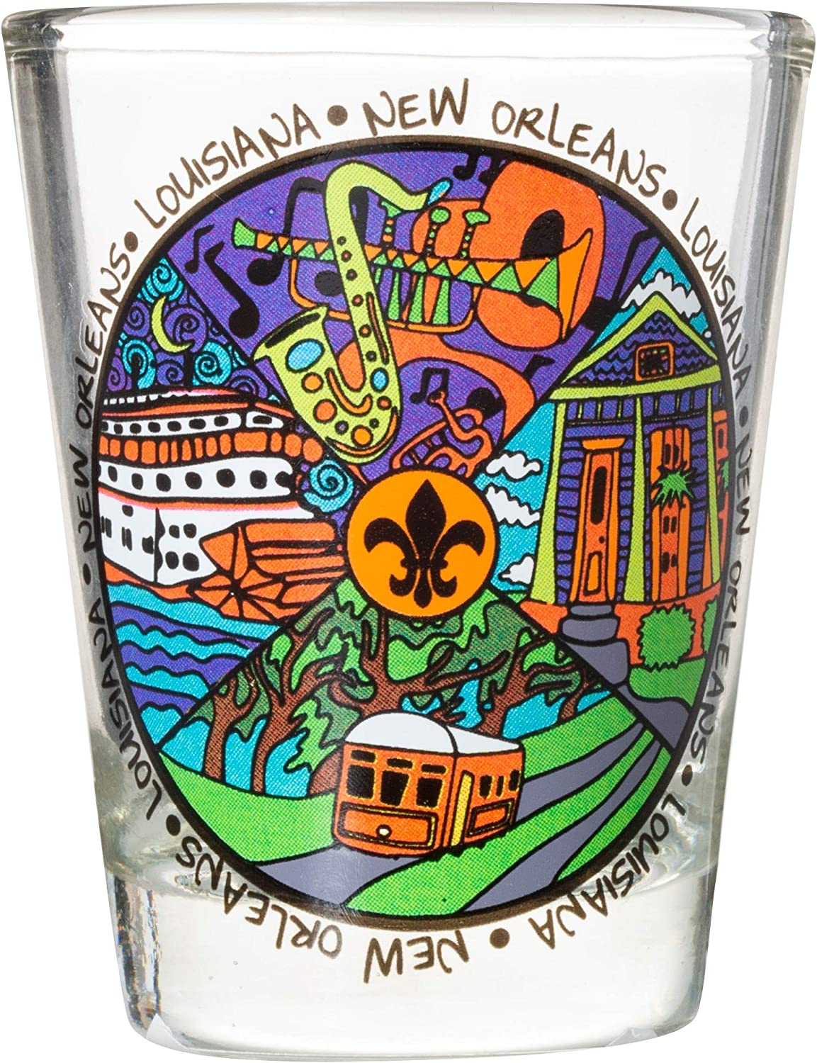 New Orleans Louisiana Sale item Easy-to-use Iconic Souvenir Glass Shot Multicolor