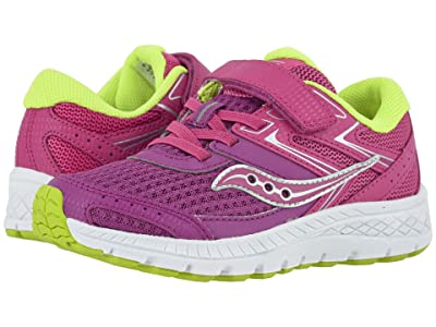 Saucony Kids S-Cohesion 13 A/C (Little Kid/Big Kid) (Purple/Pink/Green Leather/Mesh) Girls Shoes