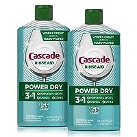 Deals on Cascade Power Dry Dishwasher Rinse Aid, 16 Fl Oz, 2-Count