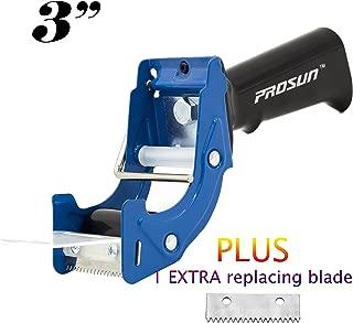 PROSUN Fast Reload 3 Inch Wide Large Tape Gun Dispenser Packing Packaging Sealing Cutter Blue