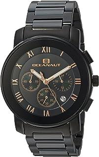 Oceanaut Men's Riviera Analog-Quartz Watch with Stainless-Steel Strap, Black, 22 (Model: OC0339)