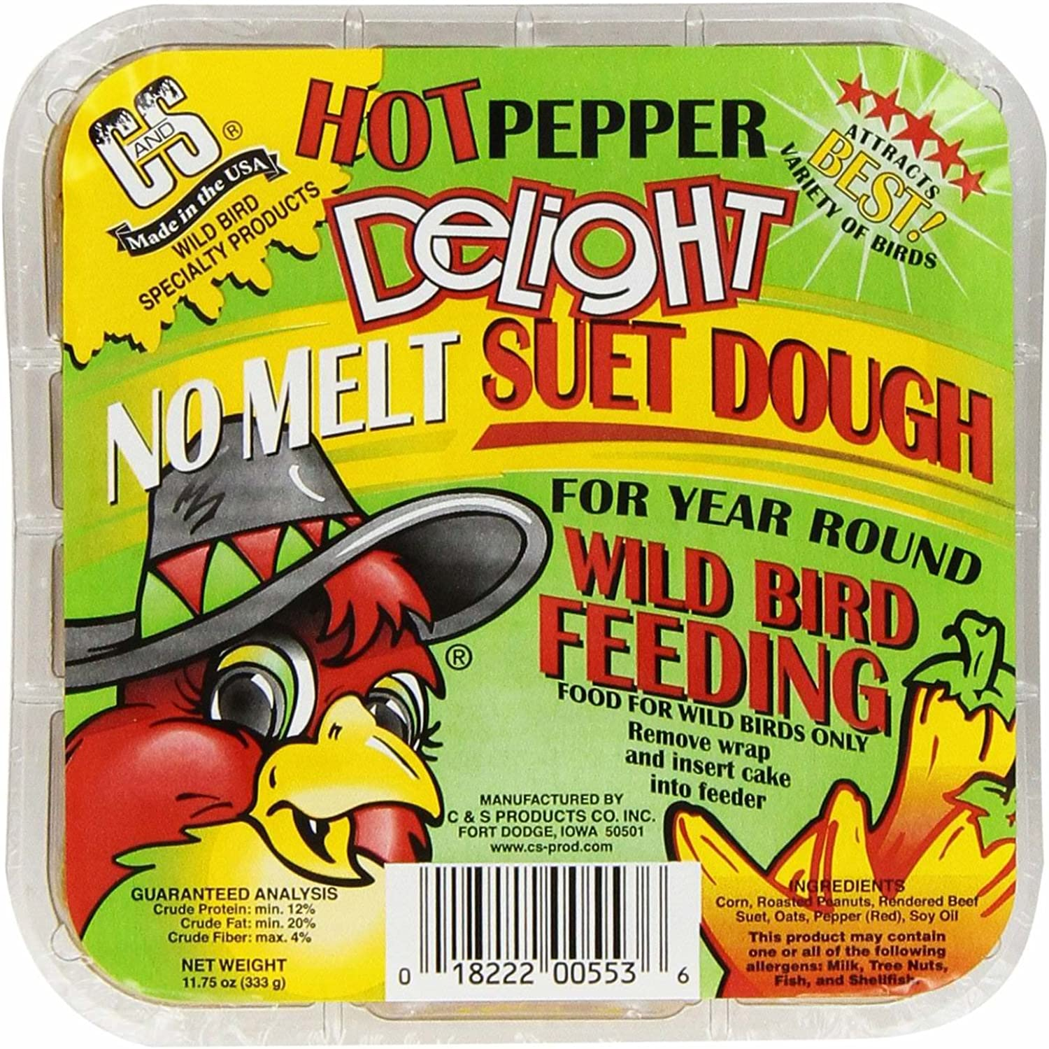 C & S Products Hot Pepper Delight 11.75 oz, 24Piece