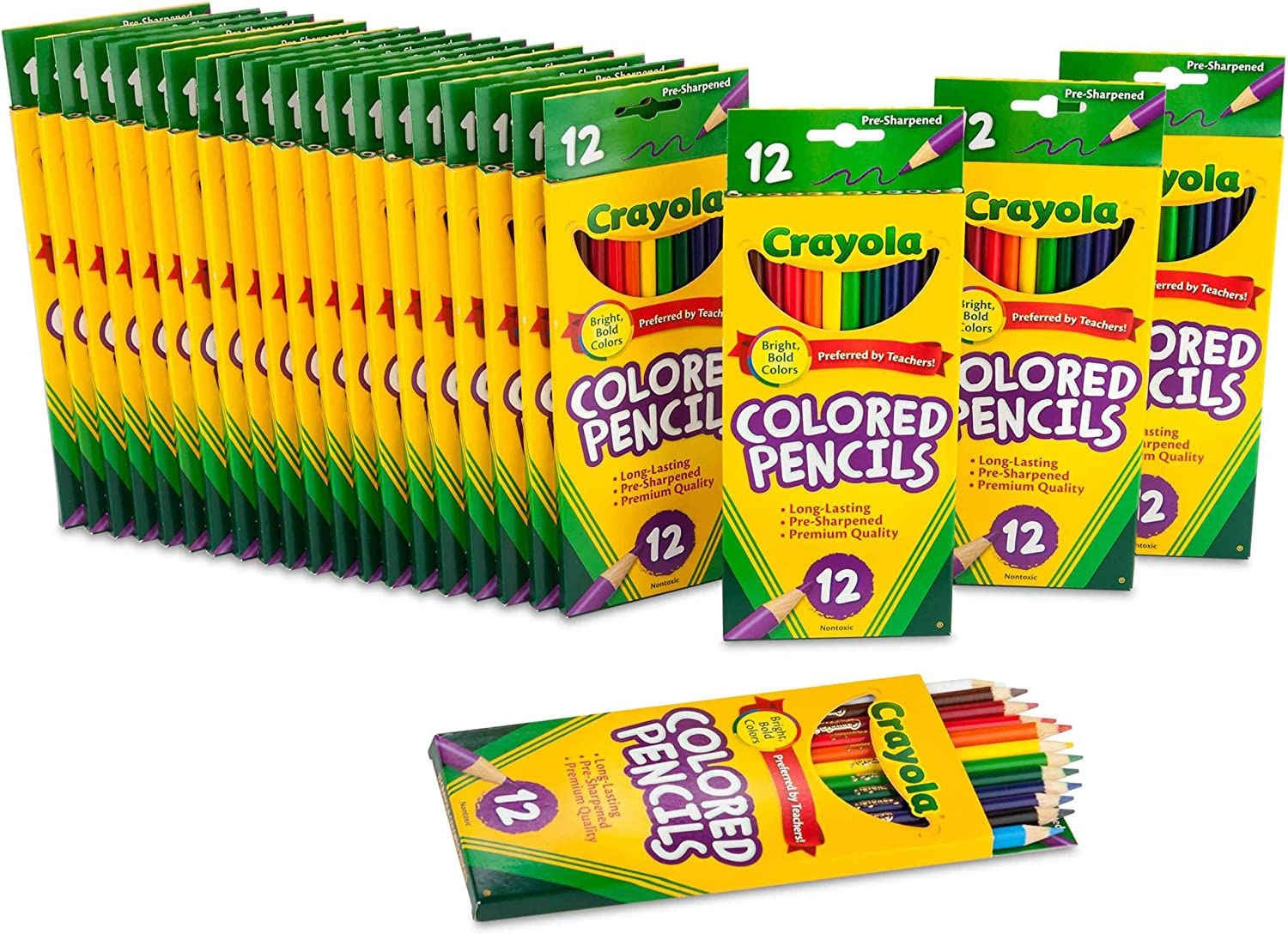 Crayola Spring new work Bulk Colored Pencils 12 Colors Pre-sharpened OFFicial site Assorted