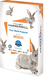 Hammermill Printer Paper, Fore Multipurpose 20 lb Copy Paper, 8.5 x 14 - 1 Ream (500 Sheets) - 96 Bright, Made in the USA