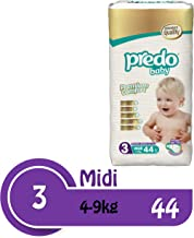 Predo Baby Midi Advantage Pack Diapers, 4-9 Kg, 44 Piece, One Size (White)
