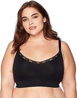Plus Size V-Neck with Lace Bralette